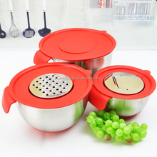 wholesales custom 3pcs stainless steel mixing bowl set OEM