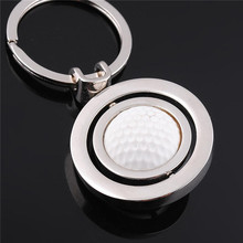 High Quality Rotating Golf Logo Metal Key Chain/Key Ring/Key Holder