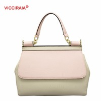VICCIRAIA Fashion Women Handbag Imitation Leather Shoulder Bag for Lady PU Totes Bags