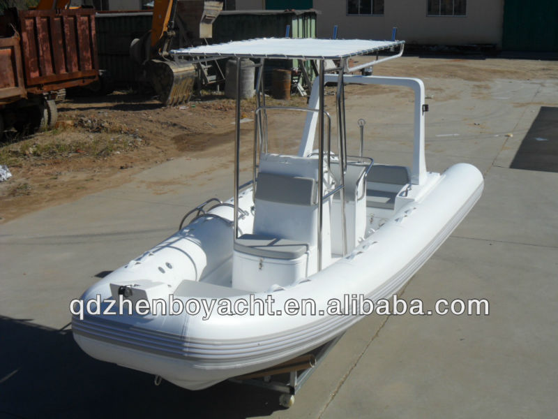 Hot selling China 520 rib pvc inflatable boat with CE certificate