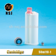 50ml 10:1 PBT Dental plastic chemical storage container for construction coaxial bottle