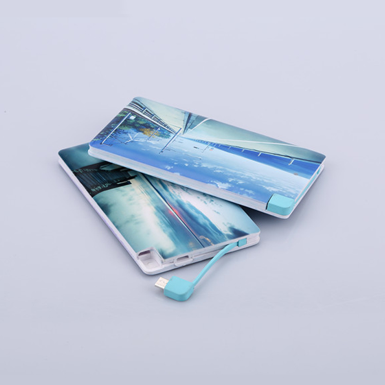 2017 Slim Power bank Promotion gifts, Ultra thin credit card power bank 4000mah, Name Card External Battery Cell Phone Charger