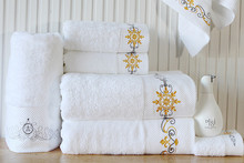 Factory direct white towel hotel beauty salon 100% cotton large bath towel