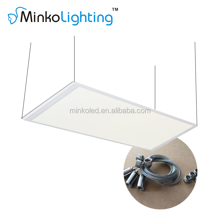 Surface Mounted Slim Office 600 x 1200 24w 36w 40w 48w 72w Silver Flat Led Ceiling Light panel