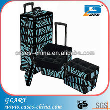 Aluminum make up Tool case professional cosmetic trolley cases for nail beauty