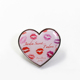 Custom Soft Enamel Metal Epoxy Heart Shaped Lapel Badges With Logo