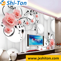 Hot sale grade aaa 3d digital wall tiles house plan for TV decoration