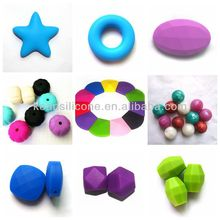 Factory Sale BPA Free Loose Silicone Beads for Teething Jewelry/Jewelry Making Raw Material