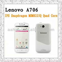 "original Lenovo A706 Quad Core Qualcomm MSM8225Q android 4.1 phone 1.2GHz 1GB RAM 4GB ROM with 4.5"" IPS Screen Smart phone"