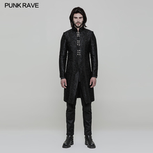 WY850 Gothic party gentleman single-breasted jacquard three-quarter winter coat