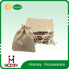 Homey hot selling durable Linen Fabric Bag for gift