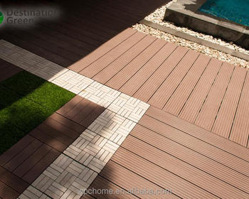 easy installing outdoor China wood plastic composite deck / wpc decking boards