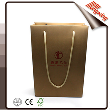 Factory Direct High Quality Gold Craft Paper Bag