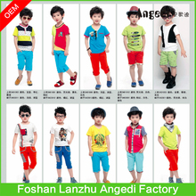 Kids clothes boys summer set Fashion designed boy's shirt+ pant set children sets professional children clothing manufacturer