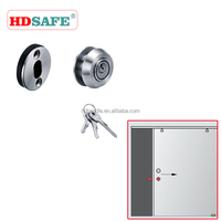 Stainless steel hidden cabinet lock for glass sliding door made in Foshan