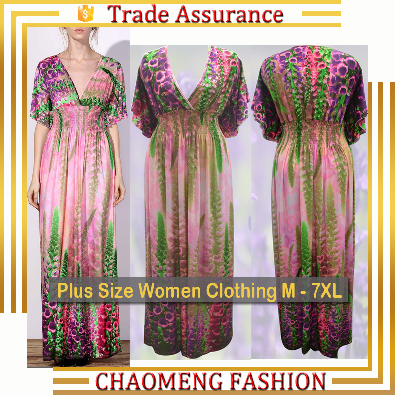 6032# Boutique Chic Sleevless Lycra Spandex Floral Maxi Long Summer Beach Fashion Plus Size Women Clothing Bohemian Dress 2017