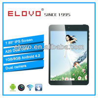 latest dual core A20 tablet mid 7.85 inch android 4.2 with wifi HDMI IPS screen