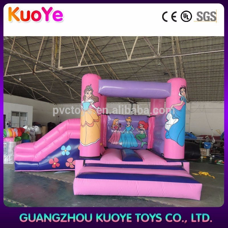 inflatable princess jumper with slide,toddler bouncy castle,jumper inflatable china