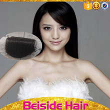 Wholesale 70% human hair with 30% synthetic hair silk fringe hairpiece fringe hair bangs