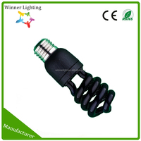 Compact Fluorescent Mini E27 Twist Bulb Black Light Energy Saving Bulb Half Spiral Fluorescent Lamp