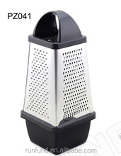 stainless steel blades food grade 4 sides food fruits vegetables cutter cheese grater with storage container