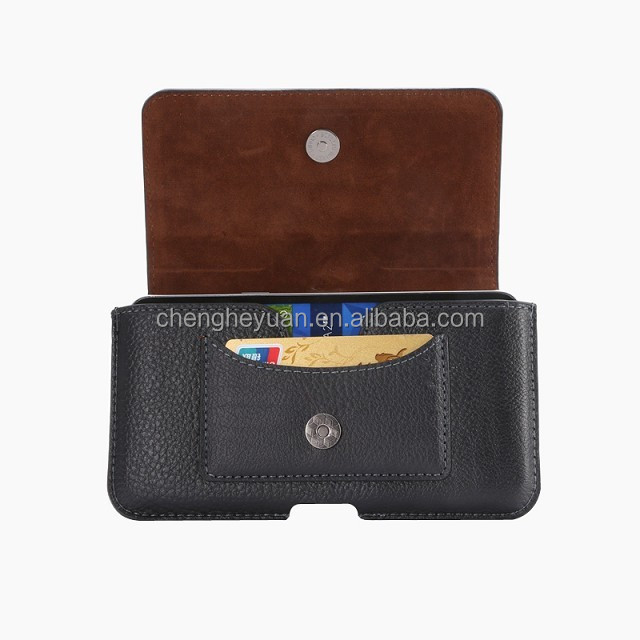 Luxury Cell Phone Belt Clip Holster Card leather pouch case for iphone 6 samsung