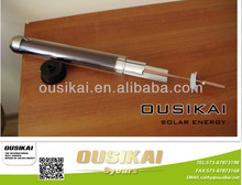 Solar collector tube with heat pipe for pressurized solar water heater
