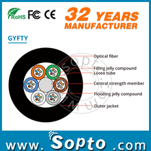 Loose Tube Stranding Outdoor Fiber Optical Cable GYFTY with Non-metal Strength Member