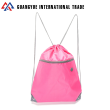 Guangyue Wenzhou Custom Design Your Own Polyester Drawstring Backpack With Zipper Pocket