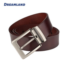Dreamland Custom High Quality Genuine Leather Belts with Alloy Pin Buckle