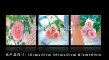 BCP12-0260 Romantic Flower Oil Painting Printed Flower Art On Canvas