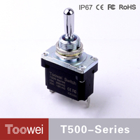 Toowei waterproof toggle switch atv use Car Truck Atv Airplane 3 Pins 2 Position Toggle Switch