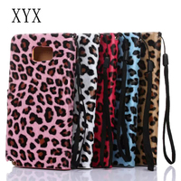 phone accessory electroplated pc material leopard printed leather flip case for elephone p8000