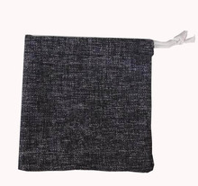 Wholesale Promotion Eco Black Drawstring Pouches For Gift Shopping