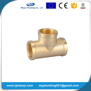 Brass Threaded Fitting Tee