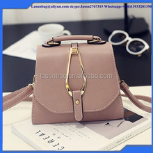 Factory Sale Fashionable Pink Grey Lady Handbag Women Italian PU Leather Shoulder Bags for Girls
