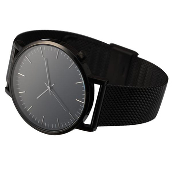Minimalist Style Japan Movt Watch Stainless Steel Black Custom Watches