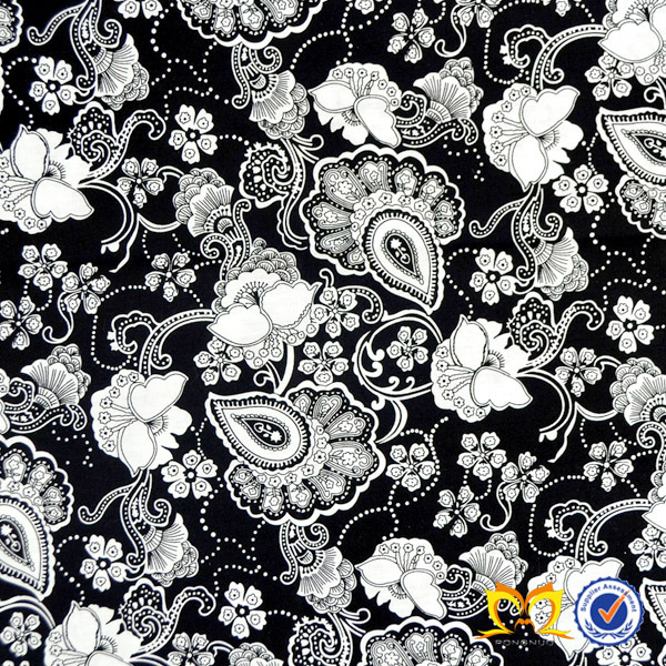 African Wax Prints Fabric 6 Yards Digital Printing Flower Poplin Fabrics Flower Cotton Printed Fabric