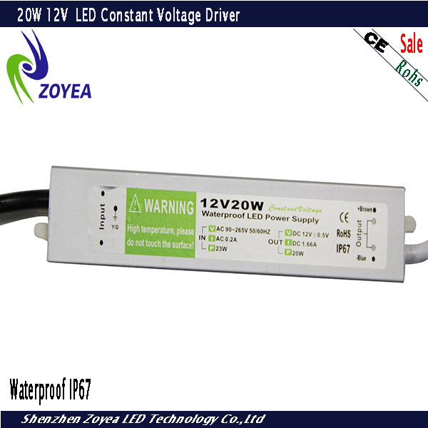 made in China waterproof constant voltage 12v led power supply FSV-20-12 12V 1.6A 20W IP67