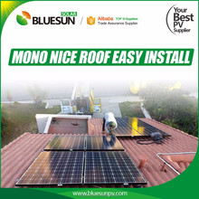 BLUESUN grid tie 3kw solar power truss roof system for home use