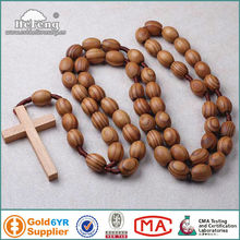 Pine wood wall rosary