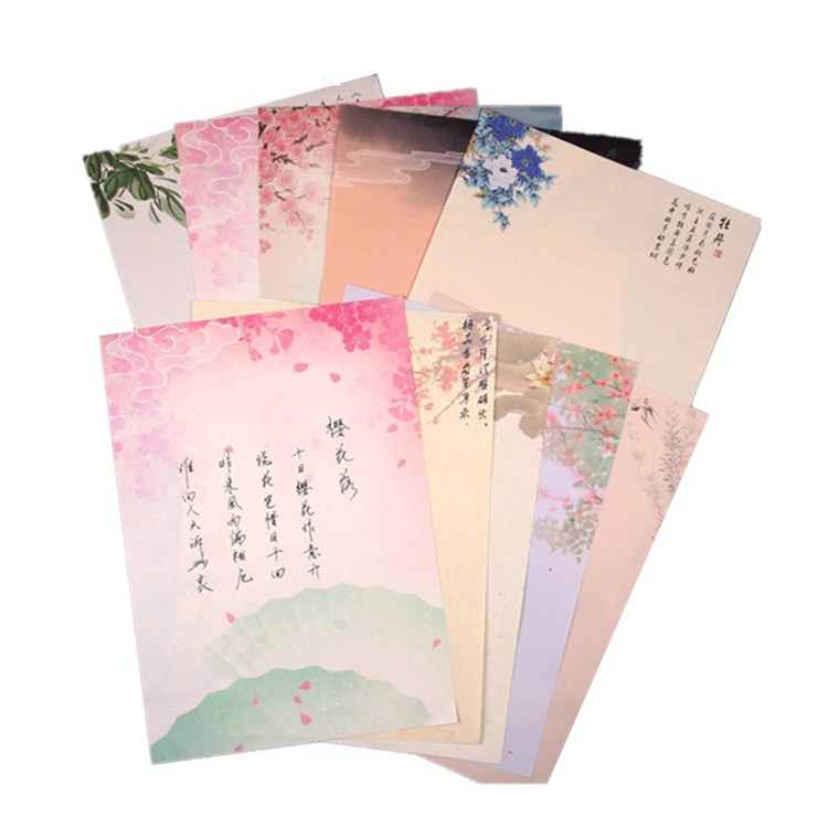 Chinese style classical 120gsm colorful lamination ream paper letter
