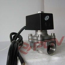 Direct acting stainless steel explosion proof fuel shut off solenoid valves