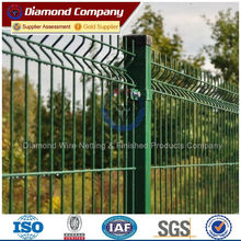 plastic coated iron wire welded fence panel with 50x200mm mesh