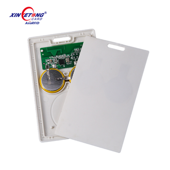 2.4G active Long range reading rfid card for vehicles system