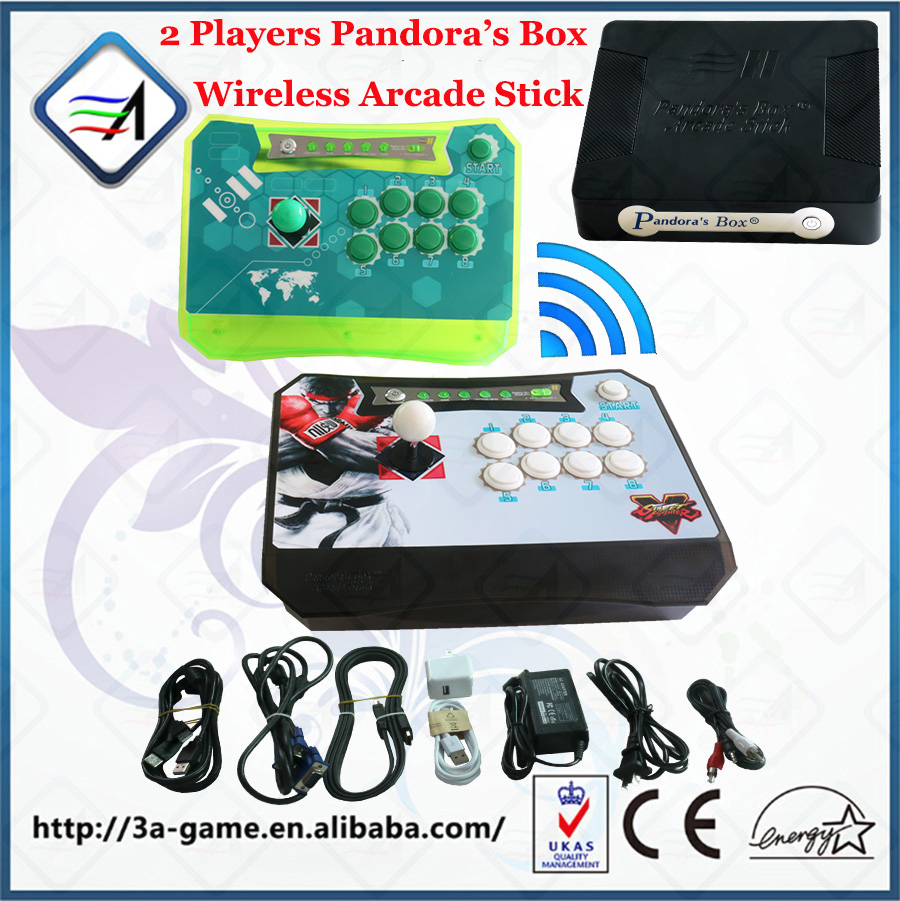 Pandora's Box 4S Wireless Arcade Stick with 680 Game Support XBOX360 PS3 PC Games Arcade Joystick Fight Game Controller