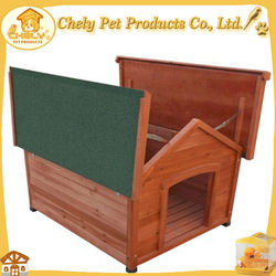 Custom Wooden Dog House Dog Kennel With Detachable Roof Pet Cages,Carriers & Houses