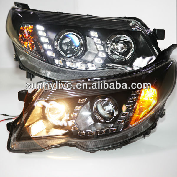2008-2012 year for Subaru Forester LED Head Light with Porjector Lens PW
