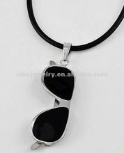 Stainless Steel / Black Cord / Aviators Pendant / Men's Necklace