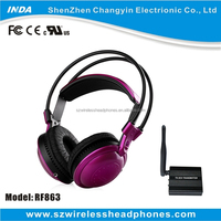500M 863 915 433MHZ Wireless Headphone Audio Transmitter And Receiver For Silent Disco Party TV CD DVD